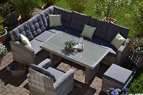 bomey Lounge-Set GartenmöbelSet Manhattan   4-Teilig I Aus Polyrattan   Lange Seite Rechts