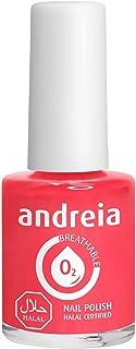 Andreia Halal Esmalte de Uñas Transpirable - Permeable Al Agua - Color B16 Coral - Sombras de Rosa | 105 ml