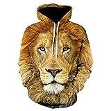 Otoño Nueva Serie De Animales Tigre Sudaderas con Capucha para Hombres Y Mujeres 3D Divertido Y Versátil Jersey De Moda con Capucha Streetwear Sudadera-Wy-10_XXS
