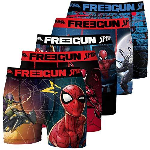 FREEGUN Lot de 5 Boxers Homme Spider Man Savior Multicolre,Medium