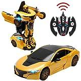 DREAMADE Roboter Auto mit Fernbedienung Mercedes-Benz, Ferngesteuertes Auto Transform Roboter, Elektrofahrzeug, Smart Robot Car, Spielzeug Roboter-Auto, 2.4G 1:14, GT3 (Gelb)