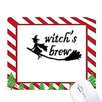 英語の引用を設計の魔女の飲み物 ゴムクリスマスキャンディマウスパッド