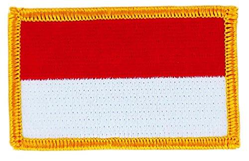 Patch om op te strijken, geborduurd met Indonesische vlag