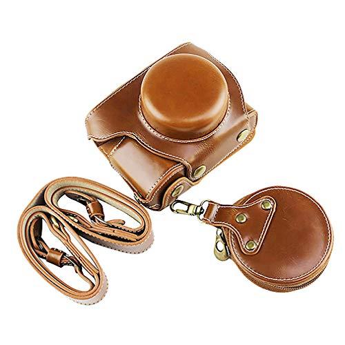Marron Funda de Proteccion con Bandolera de Piel para Olympus Pen E-PL10 E-PL9 (14-42mm) BDS-EPL10-H-brown
