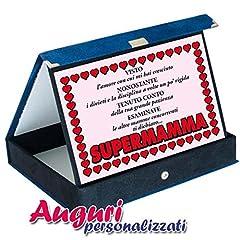 Idea Regalo - Bombo Targa Premio Super Mamma
