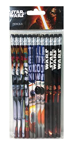 Disney Star Wars'The Force Awaken' 12 Wood Pencils Pack