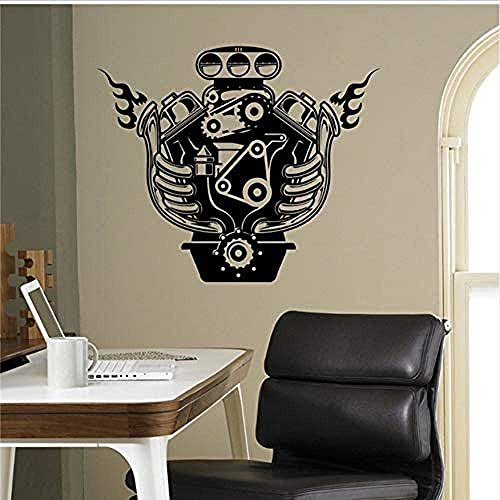 Motor Engine Wall Decal Vending Machine Vinyl Decal Home Interior Garage Decoration Removable Decorative Wall Art 58X69Cm