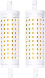 Luxvista R7s J118mm 15W LED Regulable, Lámpara Lineral de maíz, 1500lm iluminación Bombillas de forma de cilindro, Equivalente a la Lámpara Halógena R7s 150W 200W (2-Unidades, Blanco Cálido 3000K)