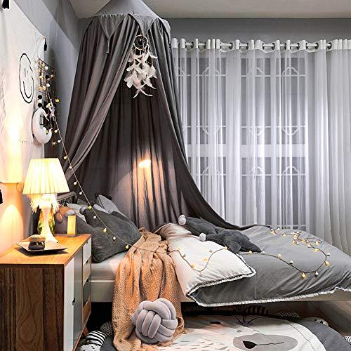 YXZN Elegante Kinderbett Baldachin, Prinzessin Mädchen Fee Traumzelt, Kinderzimmer Babybett Hängen Vorhang Moskitonetz Kinder Leseecke Dekoration