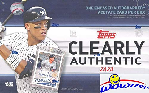 2020 Topps Clearly Authentic Baseball Factory Sealed HOBBY Box with Encased ON-CARD AUTOGRAPH ACETATE Card! Look for SIGNED Cards of Mike Trout, Derek Jeter, Yordan Alvarez r & Many More! WOWZZER