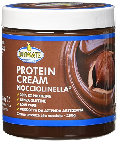 Protein Cream Nocciolinella - Crema Proteica Spalmabile Con Il 30% Di Proteine Del Siero Del Latte - Whey Isolate Microfiltrate - Senza Glutine -  Senza Zucchero - Low Carb - 250 g - Ultimate Italia
