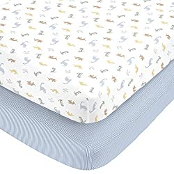 Carter's fitted crib sheets.