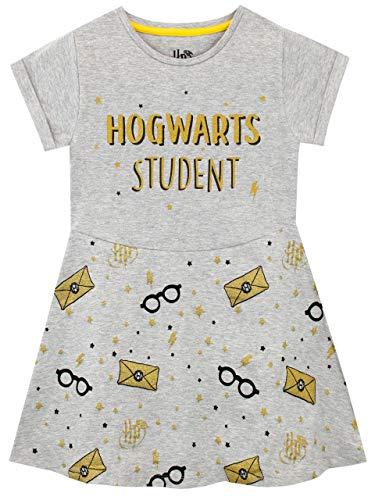 Harry Potter Vestido para niñas Hogwarts Gris 9-10 Años