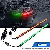 """Maliyaw 12""""LED-Boots-Bogen-Navigationslicht-Ausrüstungs-Heck-Lichter für Marineschiff-Ponton-Yacht - 1 Paar - Rot und"""