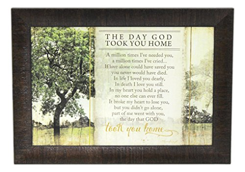 Artistic Reflections 'The Day God Took You Home Framed Art