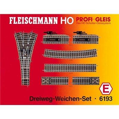 Fleischmann 6193 - Profi Gleis - Dreiwegweichen-Set