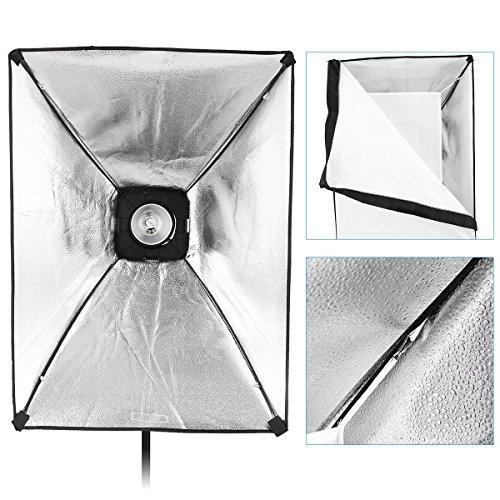CRAPHY 440W Professional Studio Flash Strobe Photography Light Lighting Kit 8CH RT Monolight 50cmx65cm Softbox Strobe Set with 4xGels (Translucent,Blue,Red,Yellow) Carrying Bag for Portrait