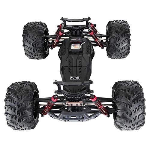 RC Auto kaufen Monstertruck Bild 2: RC Monstertruck 1:10 FPS V10 Offroad Elektro Auto - Dual Motor bis zu 50 km/h - 4WD - Allradantrieb, IPX4 Wasserdicht, 34cm, Differentiale, 2.4G Fernbedienung, 2 Speed Modes, inkl. 2x LiPo Akku, 4x AA*