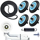 Updated samsung Dryer Repair Kit for DC97-16782A Drum Roller, 6602-001655 Dryer Belt, DC93-00634A Idler Pulley, Replacement AP5325135 PS4221885 AP4373659 AP6038887 PS4133825