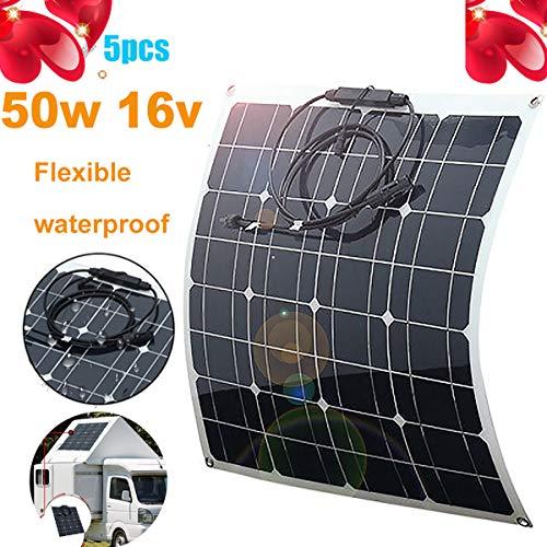 50W 18V Solarmodul Solarpanel Monokristalline Flexible ETFE Wohnmobil Boot RV