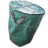 Newin Star Bolsas De Jardín con Tapa Reutilizable Resistente a Prueba De Agua Sacos De Basura con Manijas 2pcs 272l