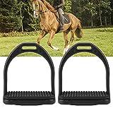 Staffa per Cavallo, staffe di Guida Nere in plastica ad Alta Resistenza Staffe di Sicurezza Pedane equestri per Equitazione(L)