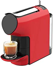 DGWL Auto-Start Maker with Builtin Coffee Grinder, Automatic Commercial Steam Milk Foam (Color : Red)