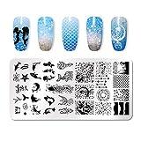 Stampo Per Copertine Per Unghie Moda Stampaggio Modello Multi-modello Stampa Immagine Nail Art Stamping Scraper Strumento Per Unghie