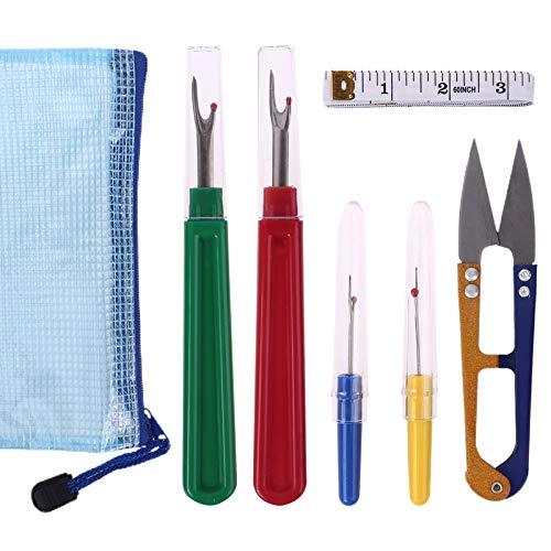 Juego de 7 piezas para descoser, cortador de hilo, tijeras, removedor de costura, bolsa de almacenamiento