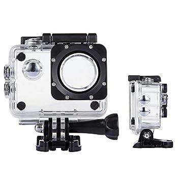 TEKCAM Action Camera Waterproof Case Underwater Protective Housing Case Compatible with AKASO EK7000 EK5000/ DBPOWER EX5000/ WiMiUS Q1Q2/ EKEN H9R/ Campark X15 V30 Sports Camera