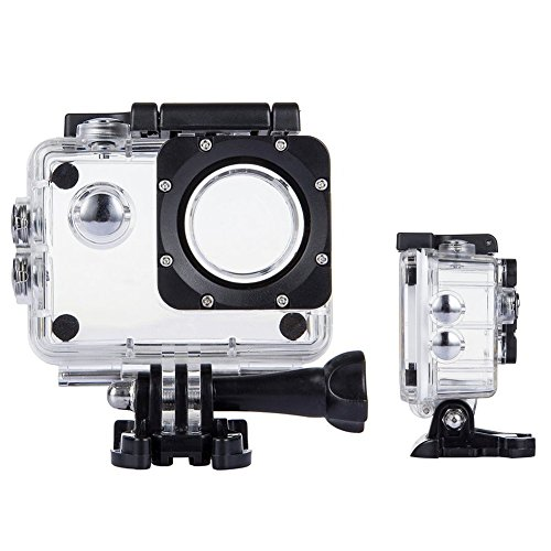 TEKCAM Action Camera Waterproof Case Underwater Protective Housing Case Compatible with AKASO EK7000 EK5000/ DBPOWER EX5000/ WiMiUS Q1Q2/ EKEN H9R/ Campark X15 V30 Sports Camera