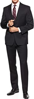 Mens Wool Slim Fit Two-Button Suit