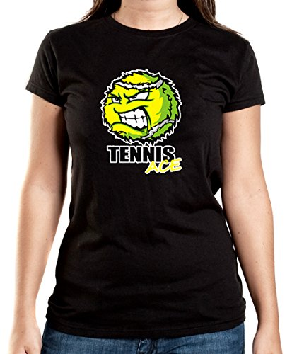 Certified Freak Tennis Ace T-Shirt Girls Black M