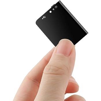 【2020新登場】QZT ボイスレコーダー 超小型 ICレコーダー ICボイスレコーダー 録音機 16GB大容量 超軽量 超薄型ミニレコーダー 仕掛け録音 30時間連続録音 60m超遠距離録音 HDノイズリダクション 音声監視 ワンタッチ録音 多機能 大容量 簡単操作 携帯便利 高音質 360度自動録音 Android/Windows/Mac対応 型番:Q61