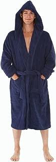 Mens Turkish Terry Cloth Robe, Thick Hooded Bathrobe