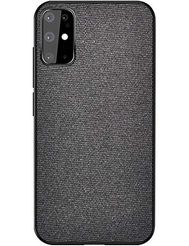 kinnter Stoff Bezug Tasche Cover Kompatibel Mit Samsung Galaxy S20 Handy hülle Stoßfest Handyhülle Aus Hard PC Backcover Und Silikon Kante Bumper Für Galaxy S20 Schutzhülle