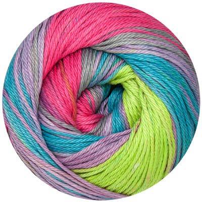 ONline Linie 165 Sandy Design Color 100 g - Baumwolle 0307 pink-grün-flieder-türkis