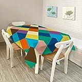 QWEASDZX Table À Manger Minimaliste Moderne en Tissu Polyester Salon Salle À Manger Nappe...