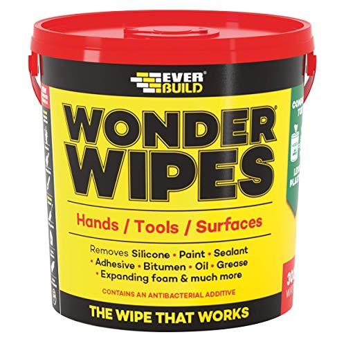 Everbuild GIANTWIPE - Set di salviette pulenti'Wonder Wipes', misura grande, 300 pz.