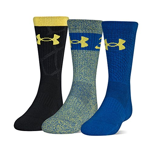Under Armour Youth Phenom Curry Crew Socken, 3 Paar, Unisex-Kinder, Socken, Phenom Sc30 2.0 Crew Socks, 3 Pairs, Adidas Sportschuhe mit Stollen, Shoe Size: Youth 13.5K-4Y
