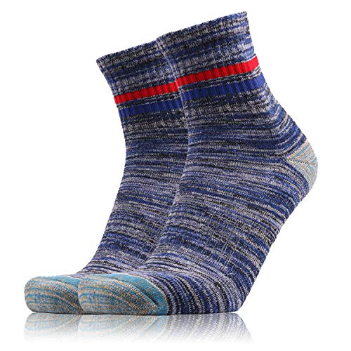 SPGOOD Herren Walking Socken Wicking Cushion Atmungsaktive Crew Socken Outdoor Multi Performance Wandersocken Trekking Laufsocken Athletic Sports (Blau, 43.5-46) …