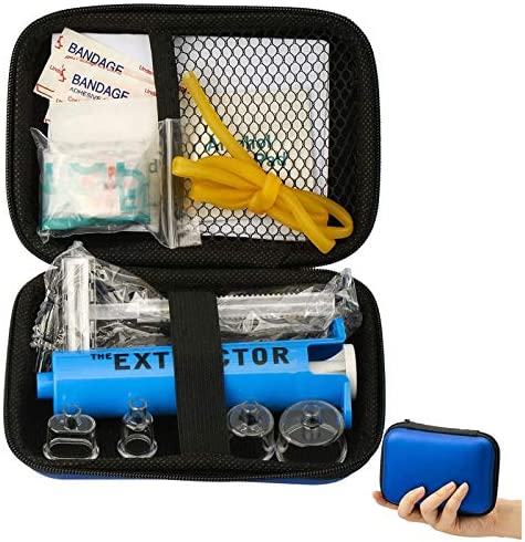WAEKIYTL Snake Bite Kit Bee Sting Kit Emergency First Aid Supplies Venom Extractor Suction Pump product image