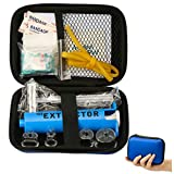 Snake Bite Kit, Bee Sting Kit, Emergency First Aid Supplies, Venom Extractor Suction Pump, Bite and Sting First Aid for Hiking, Backpacking and Camping. Includes Bonus CPR face Shield (Blue)