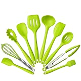 10Pcs/set Silicone Heat Resistant Kitchen Cooking Utensils Non-Stick Baking Tool...