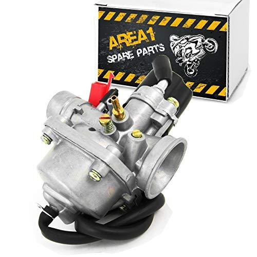 Carburador de repuesto de 12 mm para motores Minarelli y Minarelli, compatible con Yamaha Aprilia MBK Peugeot CPI Nova Motors (50 ccm/2T)