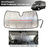 YelloPro Automotive Custom Fit Reflective Front Windshield Sunshade Accessories for 2014 2015 2016 2017 2018 2019 2020 2021 Dodge RAM ProMaster Full Size Cargo Van Chassis Cab Cutaway Window Van