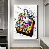 Cuadros decorativos Graffiti Art Perfume Bottle Fashion Canvas Painting Posters y Print Wall Art para la decoración del hogar de la sala de estar (sin marco) 20x28pulgadas