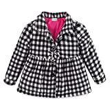 Mud Kingdom Baby Girl Fleece Jacket Coat Plaid 9 Months