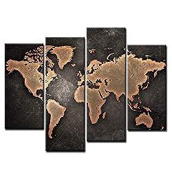 Image of General World Map Black...: Bestviewsreviews