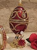Caja de joyería de lujo para parejas, caja de música para novia, estilo FABERGE con huevo de doncella de honor, regalo de oro de 24 K
